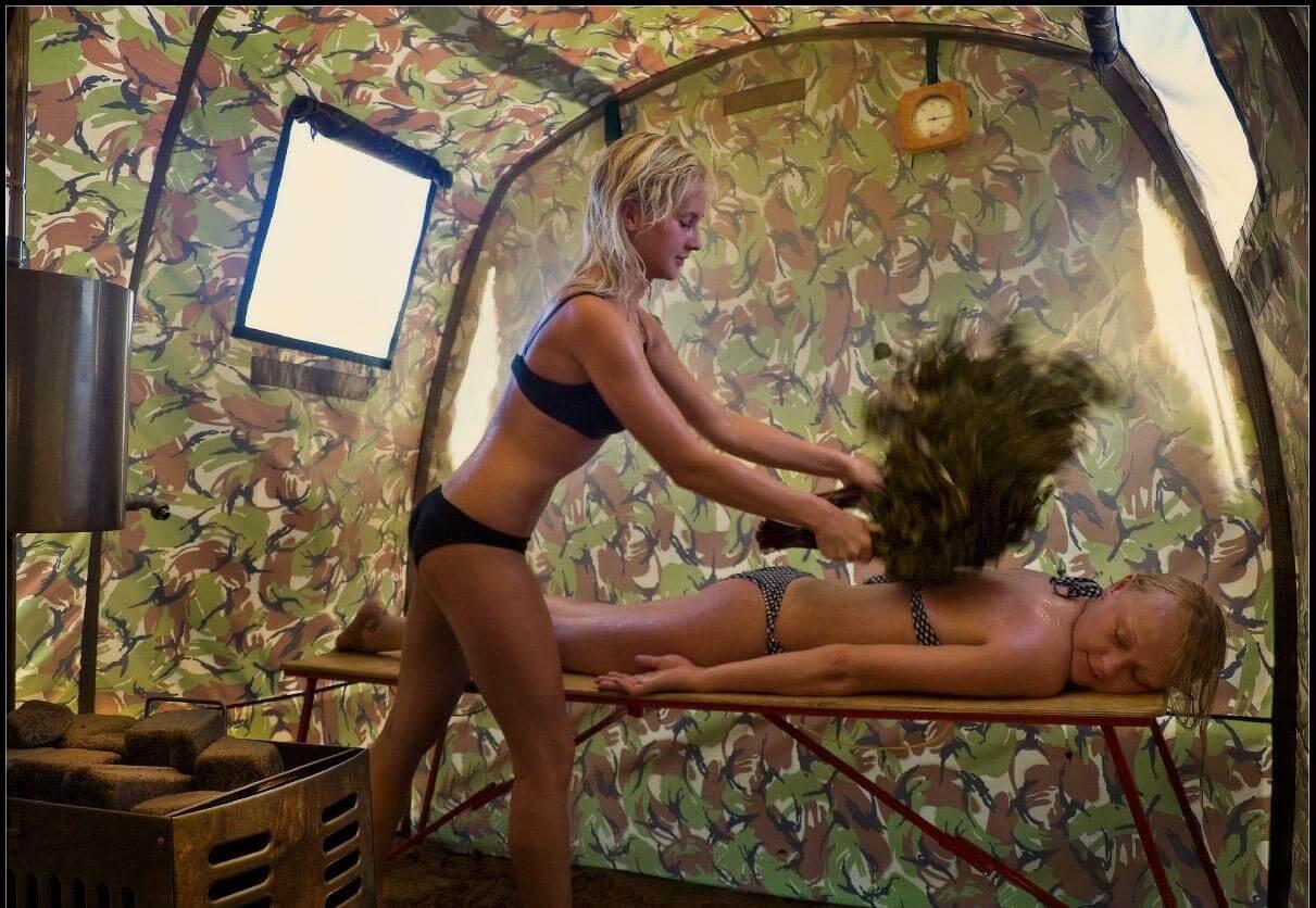 Походная баня своими руками с печкой фото