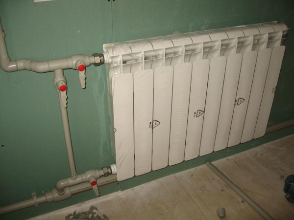 Подключение алюминиевых радиаторов полипропиленовыми трубами