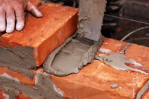 Кладка кирпича на раствор глины