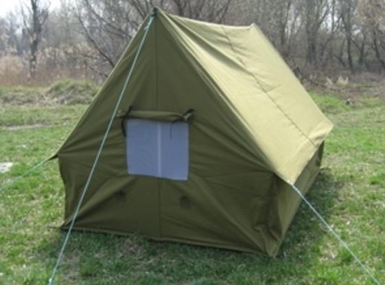 Классическая брезентовая палатка.