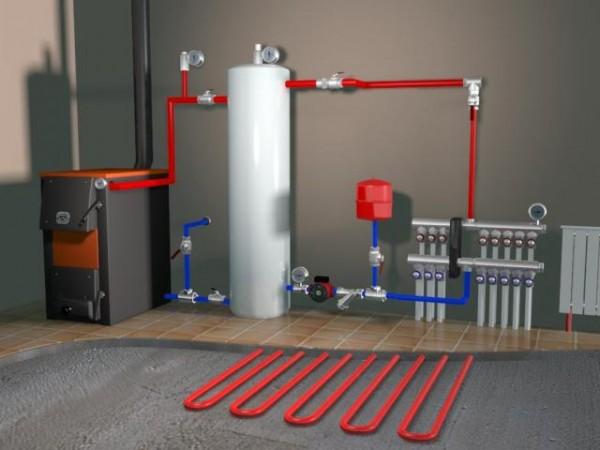 Коллектор для систем отопления, совмещенный с «теплым полом»