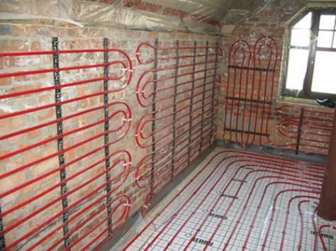 Комбинированный обогрев дома водяными системами.