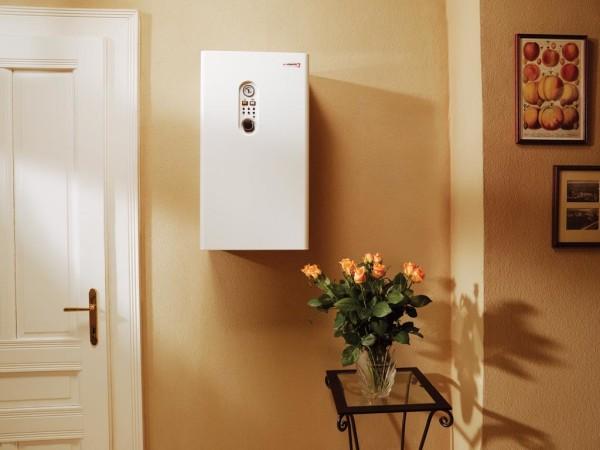 Компактный электрический котел может быть установлен в любом помещении с подведёнными коммуникациями