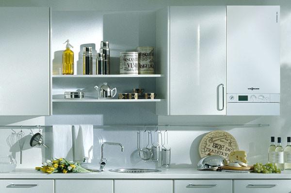 Конденсатный аппарат в интерьере кухни.