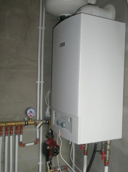 Котел для нагрева воды для системы отопления