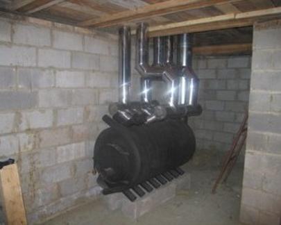 Любопытное решение: адаптация под совмещенное с вентиляцией воздушное отопление печи-булерьяна.