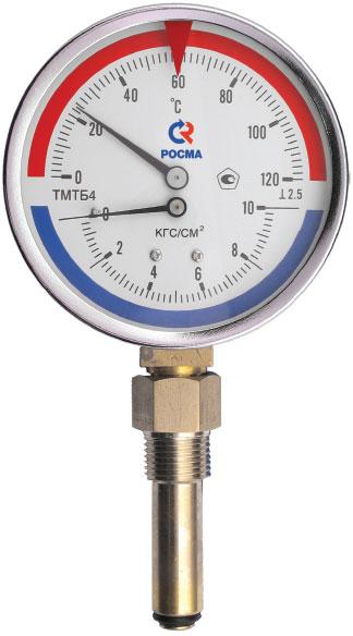 Манометр и термометр в одном корпусе
