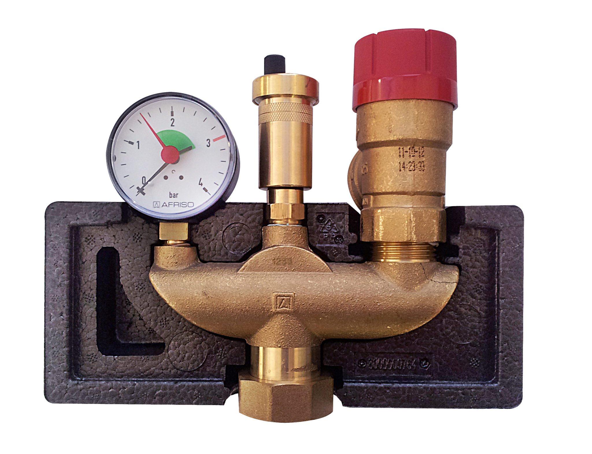 радиатор с термостатическим клапаном схема