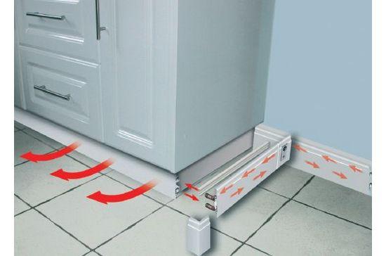 Монтаж системы отопления плинтусного образца