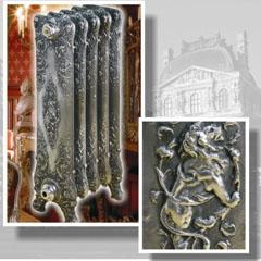 Можно найти настолько роскошные варианты, что радиаторы станут одним из главных украшений интерьера