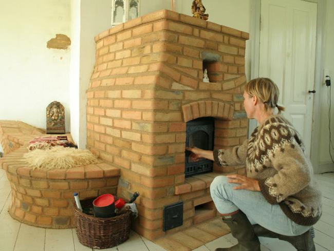 Кирпичная печь для дачи фото