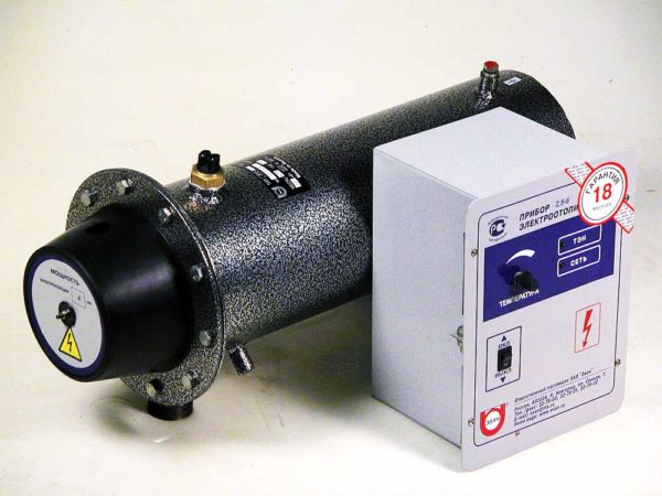 На фото — заводской водонагревательный индукционный котел.