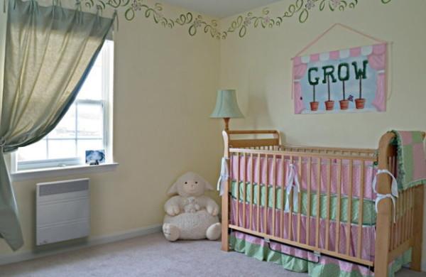 Настенный конвектор в детской комнате