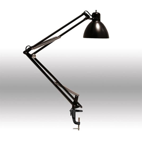 Настольная лампа с абажуром из металла