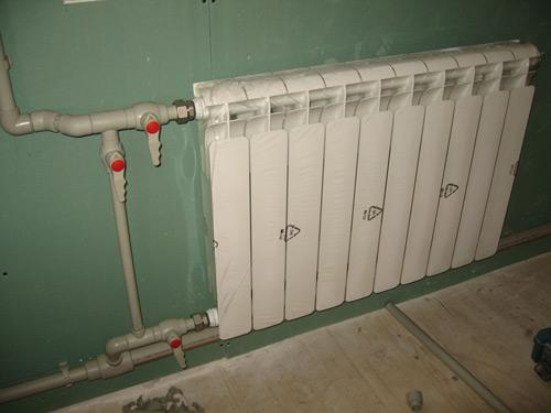 Обвязка радиаторов отопления полипропиленом с применением байпаса.