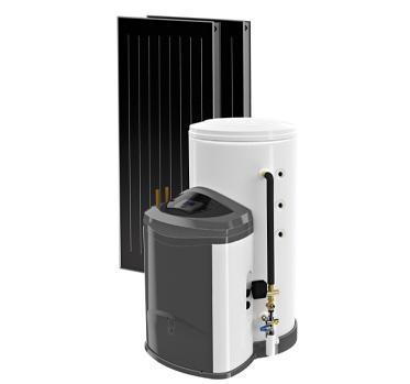 Одно из комплексных решений для обеспечения горячей водой небольшого дома.