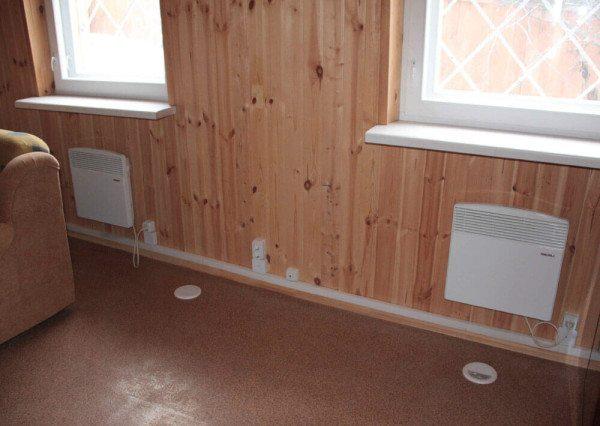 Отопление дома настенными электроконвекторами.