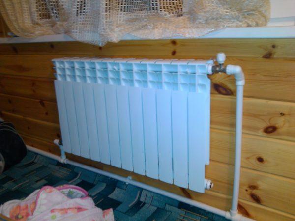 Отопление с последовательным подключением радиаторов можно развести после окончания чистовой отделки.
