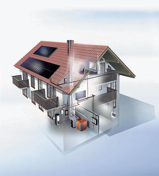Отопление загородного дома (котёл напольный газовый)
