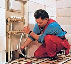 Подключение труб к системе центрального отопления