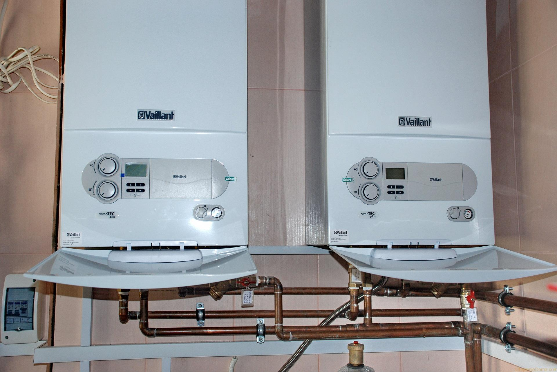 монтаж систем отопления с настенным котлом схема