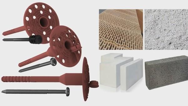 При обшивке стен используем тарельчатые дюбеля, предназначенные для пористых материалов
