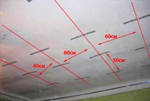 Пример разметки потолка