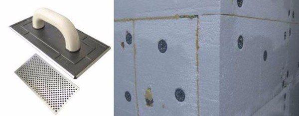 Пример выравнивания поверхности стен при помощи терки