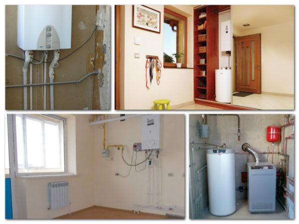 Примеры того, как разместить котел в пределах типовой квартиры
