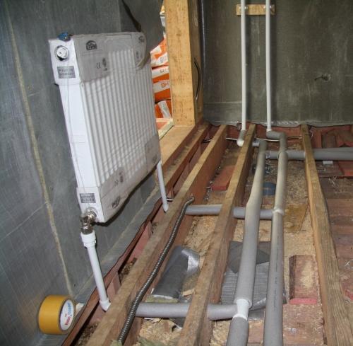 Радиатор с двутрубной системой
