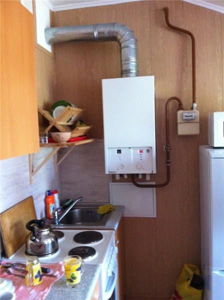 Расположение котла на кухне