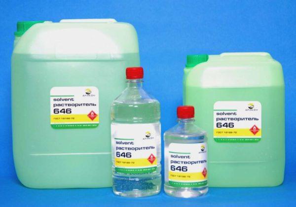 Растворитель Р-646 используется для очистки и обезжиривания металла при подготовке к утеплению