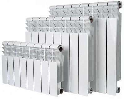 Размеры алюминиевых батарей.