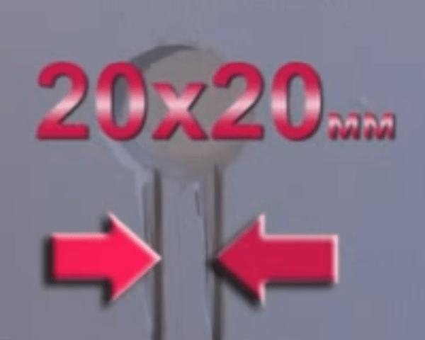Размеры канавки для проводки под терморегулятор.
