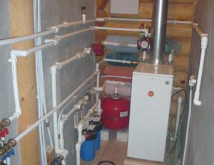 схема отопление двухэтажного дома