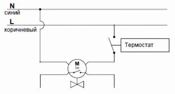 Схема подключения 4-х проводного сервопривода
