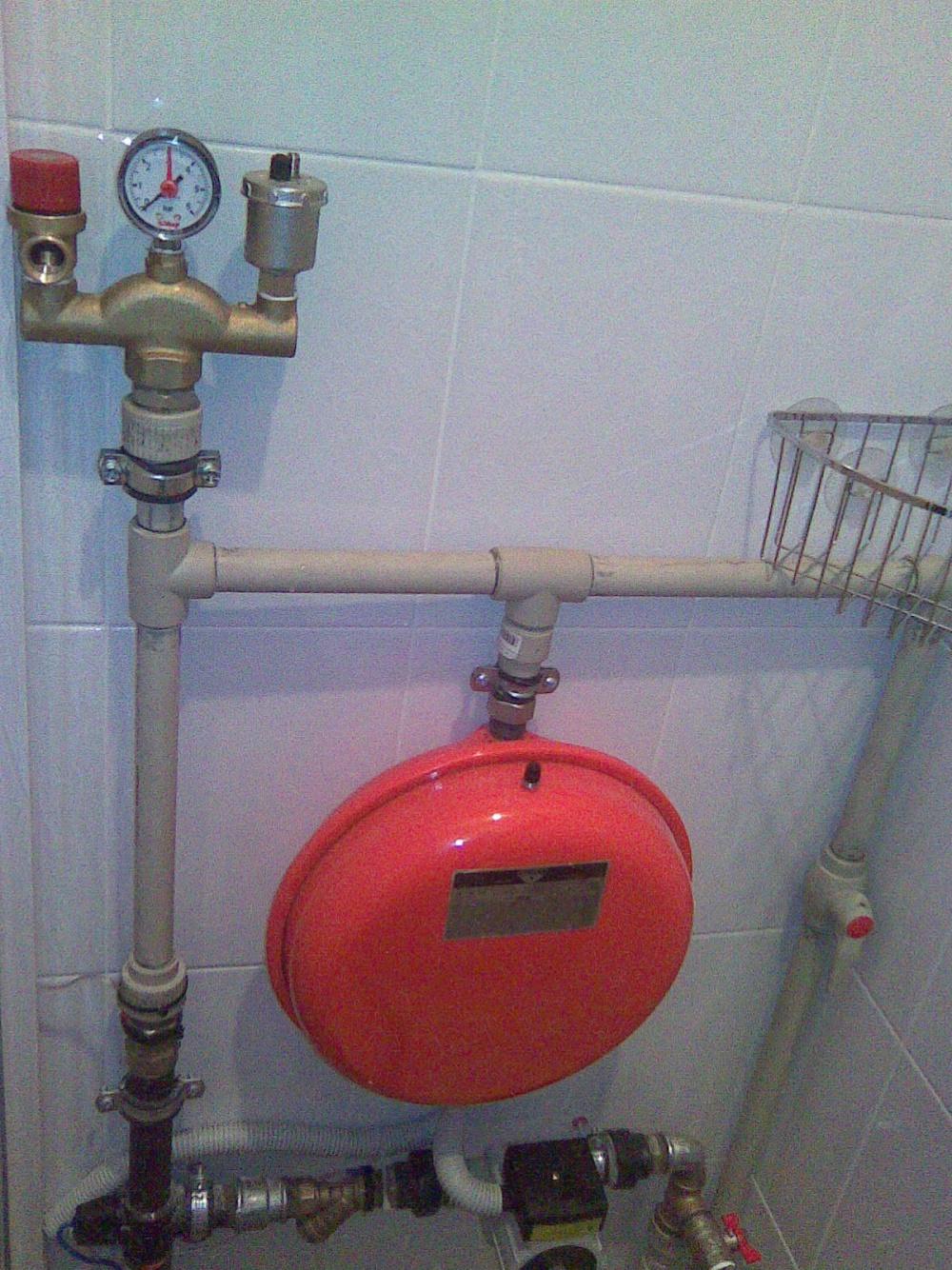 схема обвязки дома на отопление