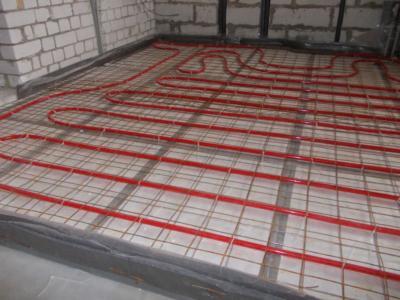 Схема разводки теплого пола при помощи пластиковых деталей