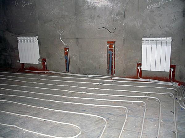схема системы отопления двухэтажного дома