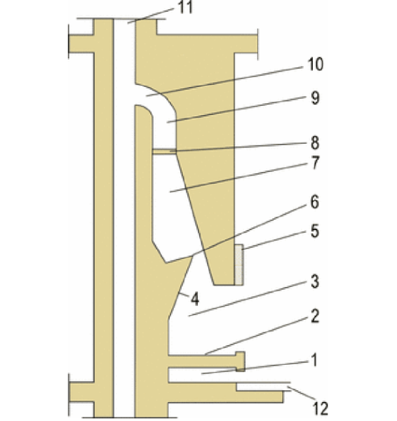 Схема стандартного камина из кирпича.