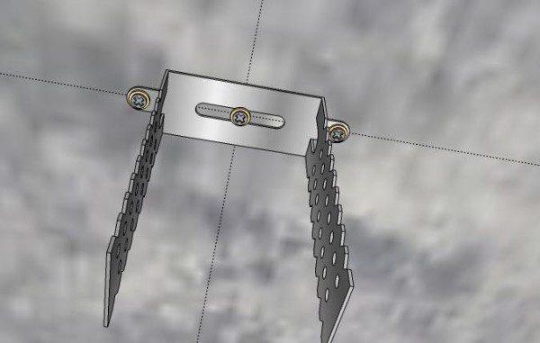 Схема установки подвеса по разметке