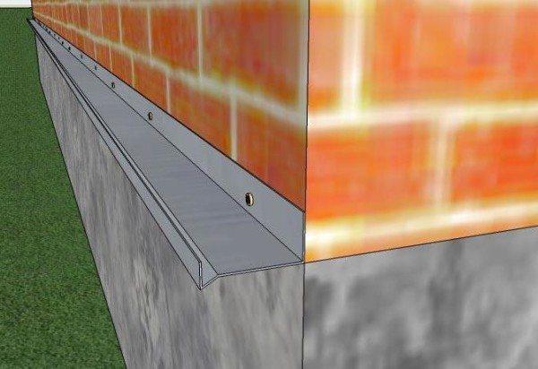 Схема установки цокольной планки