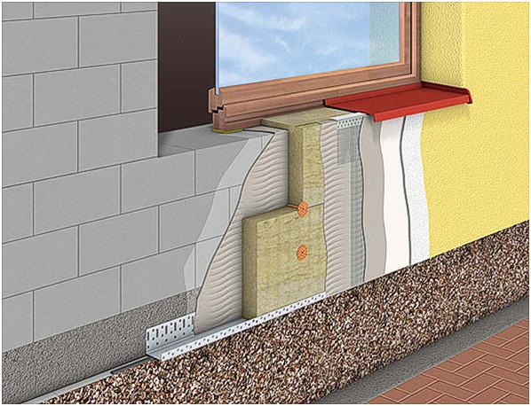 Схема утепления фасада загородного дома