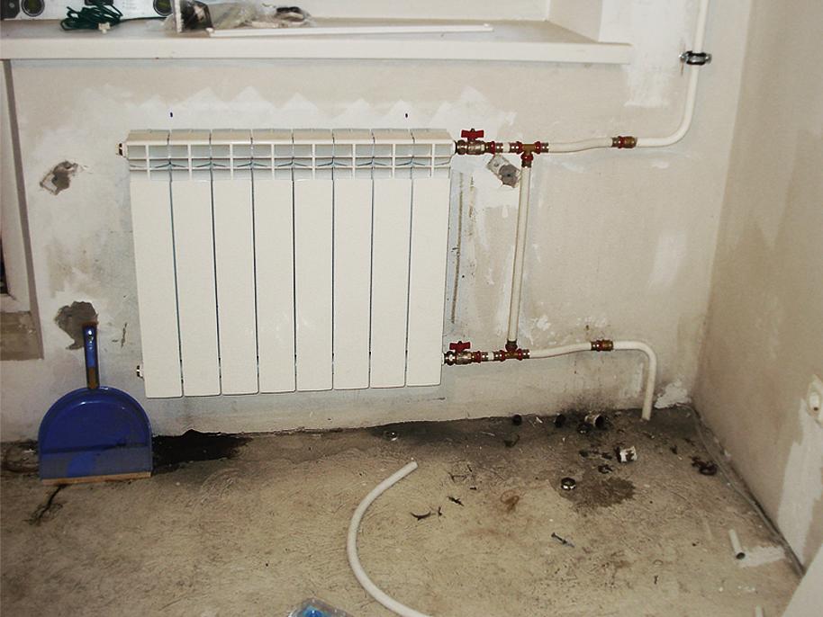 Отопление радиаторы установка своими руками