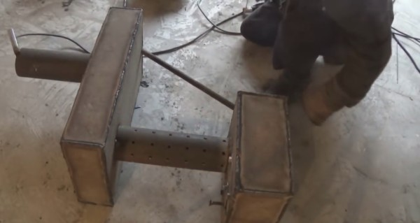 Собранный котел с диагональной перемычкой