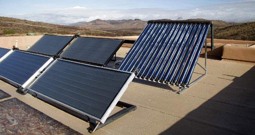 солнечные для отопления батареи для дома