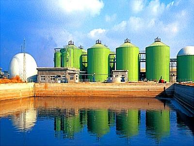 Специальная станция для получения биогаза.