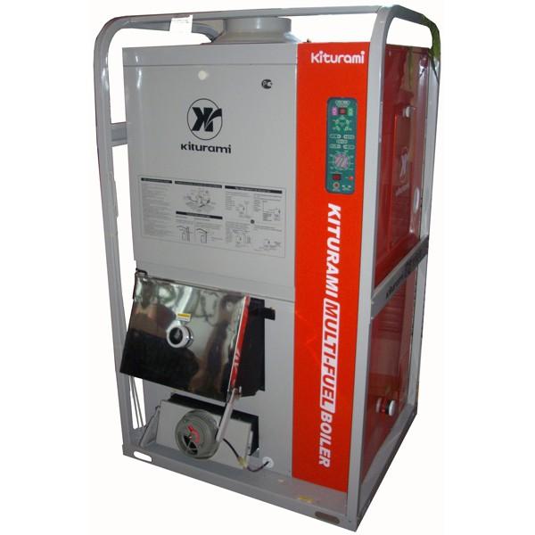 Существуют и комбинированные котлы. Например, Китурами KRM 70R работает на дизтопливе и дровах.