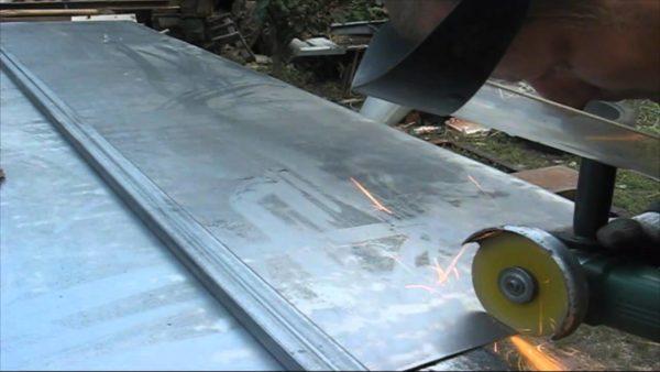 Резка листового металла болгаркой своими руками
