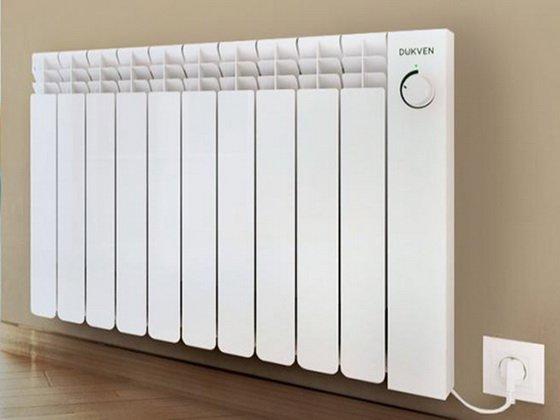 Так выглядят электрические настенные масляные радиаторы отопления